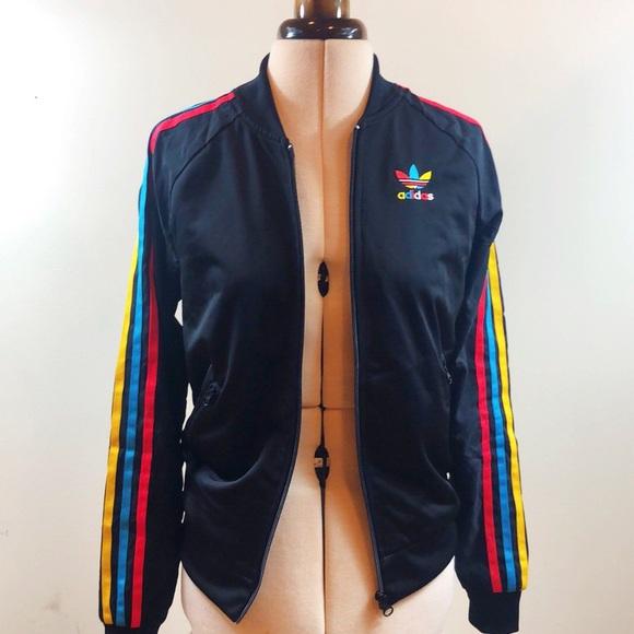 adidas Jackets & Blazers - Adidas Rainbow Track Jacket